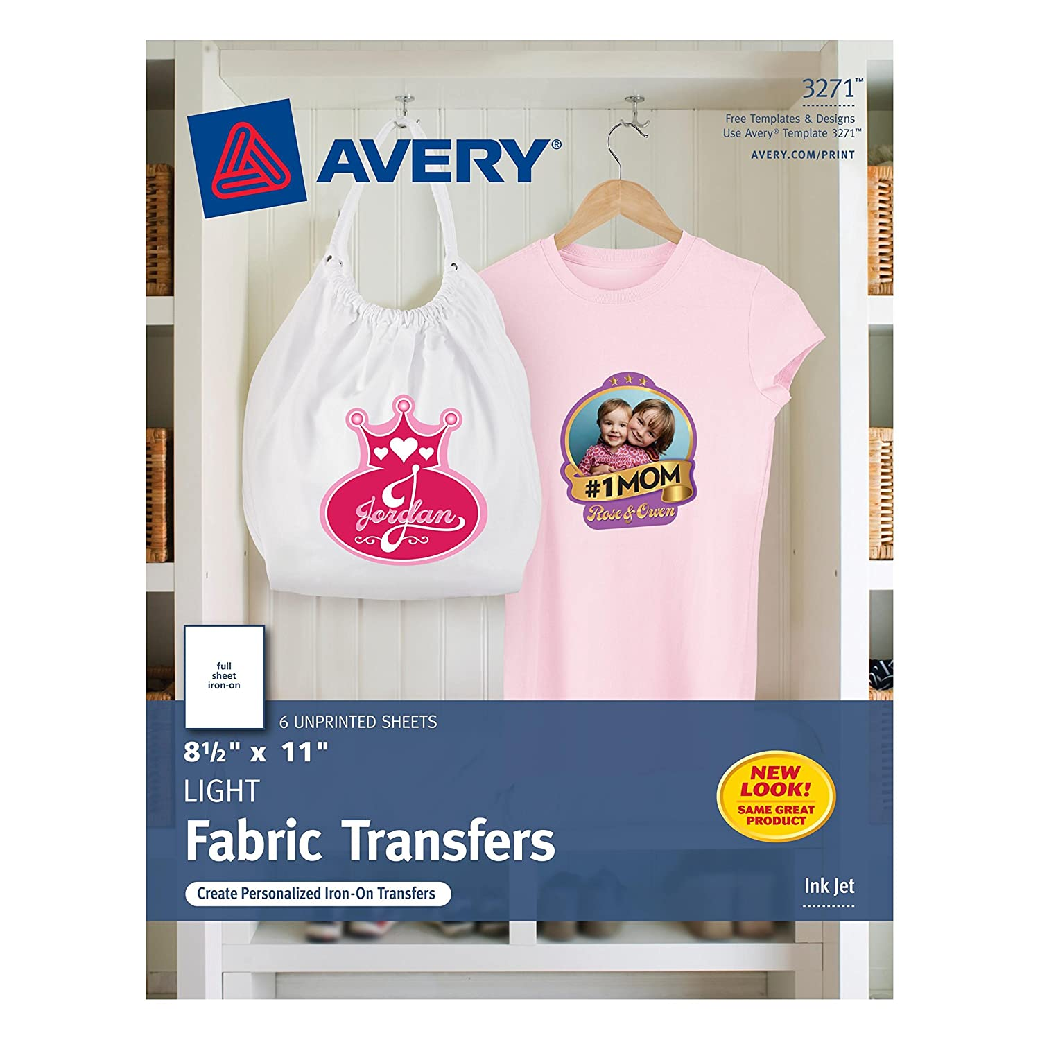 Design your own t-shirt international shipping - Amazon Com Avery T Shirt Transfers For Inkjet Printers 8 5 X 11 Inches For Use With White Or Light Colored Fabric 6 Sheets 03271 Fabric Iron On