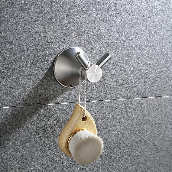 Gancho de Pared, Cepillado Acero Inoxidable Percha para Baño, Colgador Ropa Toalla Sombrero: Amazon.es: Bricolaje y herramientas