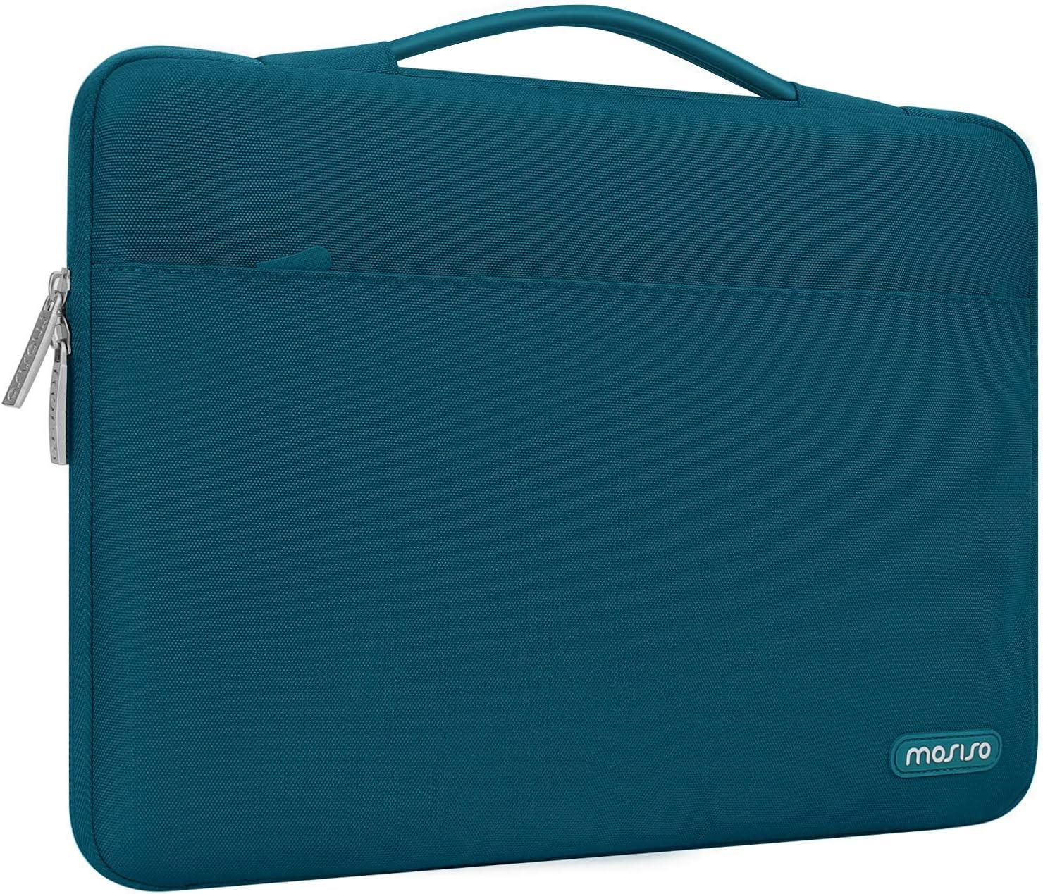 Surface Laptop 2 2018 MOSISO Housse Compatible avec MacBook Air 13-13.3 Pouces MacBook Pro Retina Bleu Marin 360 Protection Laptop Briefcase Sac en Polyester avec Ceinture Arri/ère pour Valise