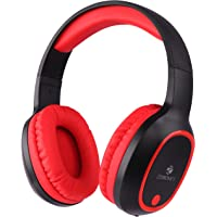 Zebronics Zeb-Thunder Wireless BT Headphone with Built-in FM,AUX Connectivity and Micro SD Card Support(Red)