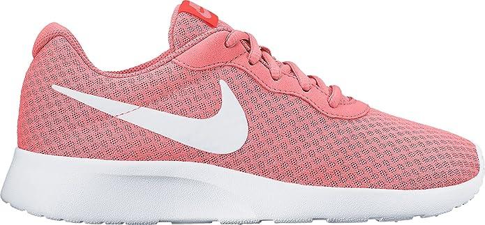 Nike Tanjun Damen Sneaker Laufschuhe Rosa mit weißem Streifen