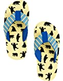 Hatley Lbh Kids Flip Flops-Boy Bears on Natural Beach and Pool Shoes