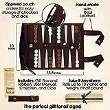 AUKO Travel Backgammon Set, Classic Backgammon