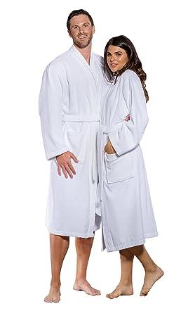 100% Turkish Cotton Men and Women Terry Kimono Bathrobe Made in Turkey ( White 2074e9bcb