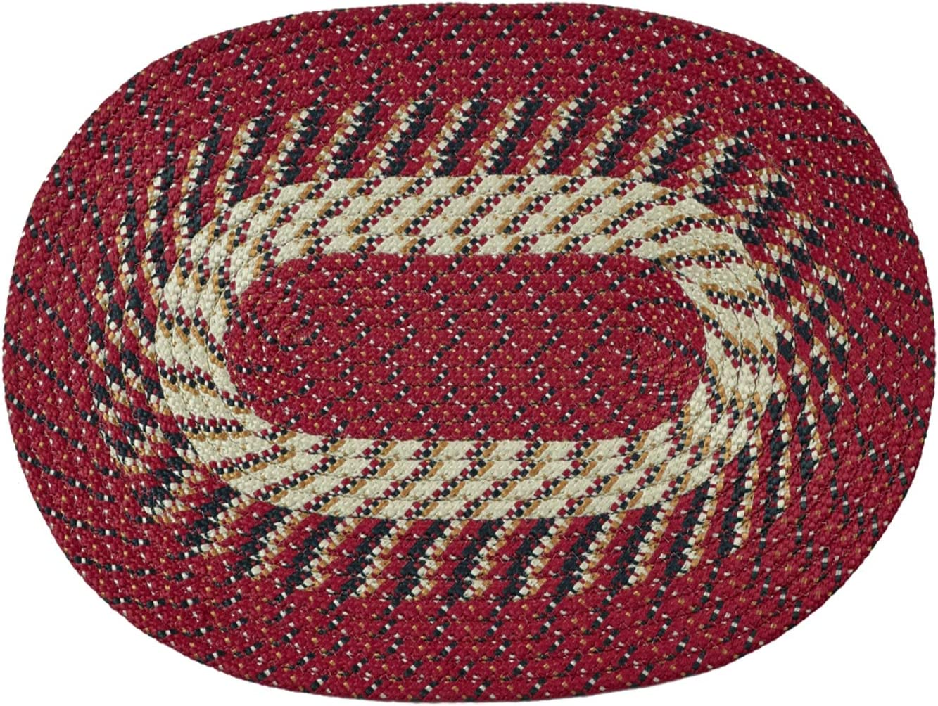 Country Braid Stripe Rug Black, 30x50