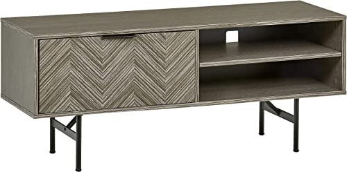 Amazon Brand Rivet Modern Media Cabinet, 47 W, Gray