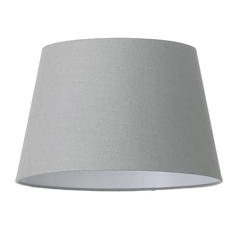 Soft cotton easy to fit 35cm lamp shade grey litecraft amazon soft cotton easy to fit 35cm lamp shade grey litecraft aloadofball Choice Image