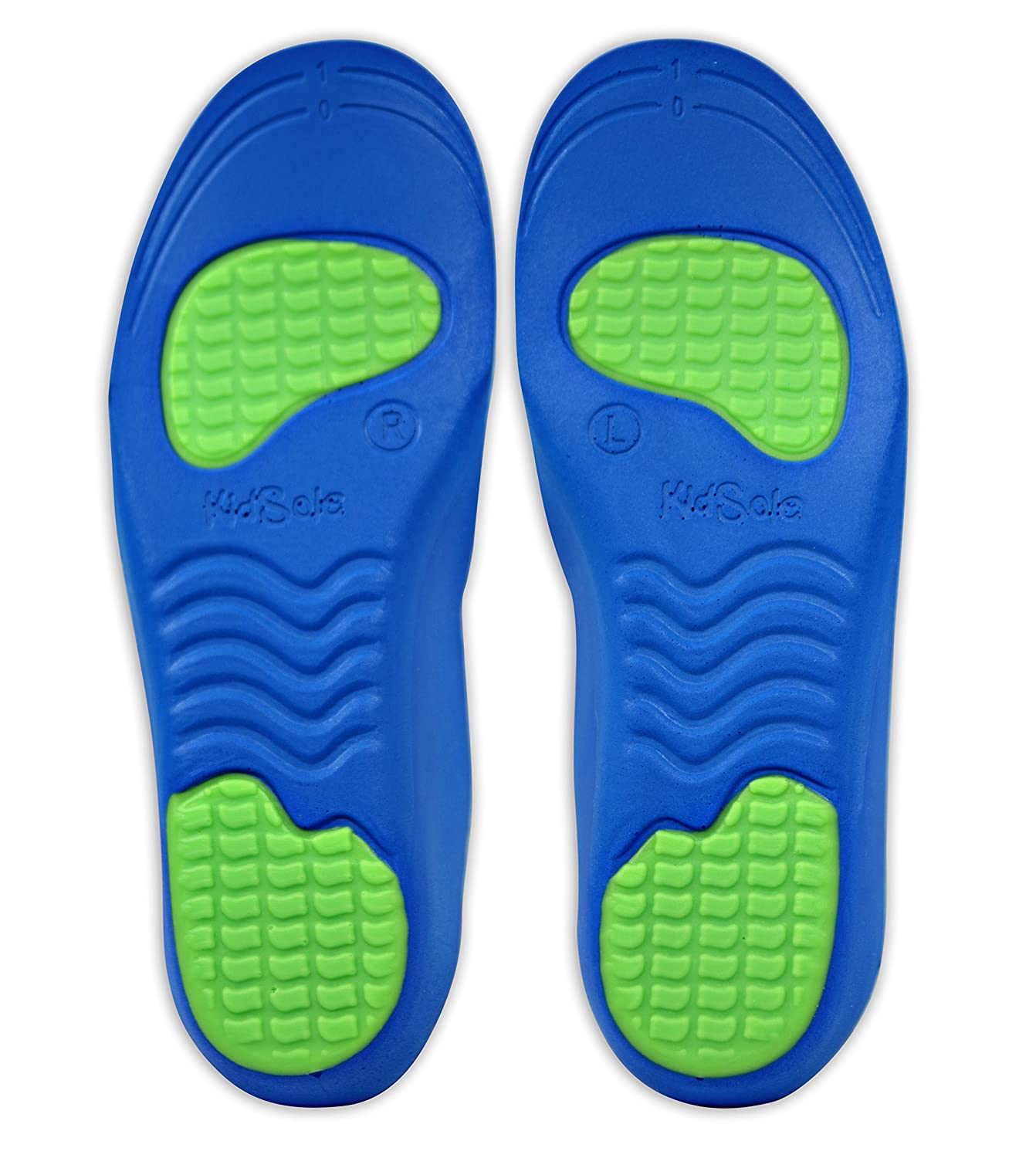 Kids Size 12-1.5 Neon Fix Premium Grade Orthotic Insole by KidSole For Flat Feet and Arch Support 20 CM