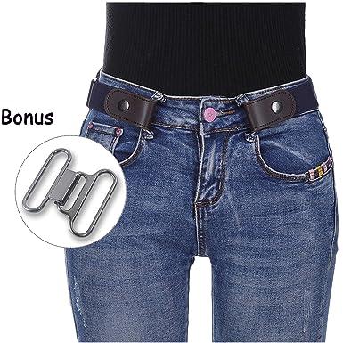 687935fab5a Kajeer Sans boucle Élastique Invisible Ceinture - Élastique Taille Ceinture  Convient jeans pour quotidiens unisexe Pantalon