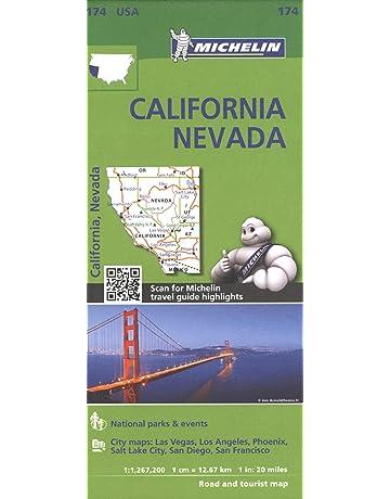 Michelin USA California, Nevada Map 174 (Michelin Zoom USA Maps)