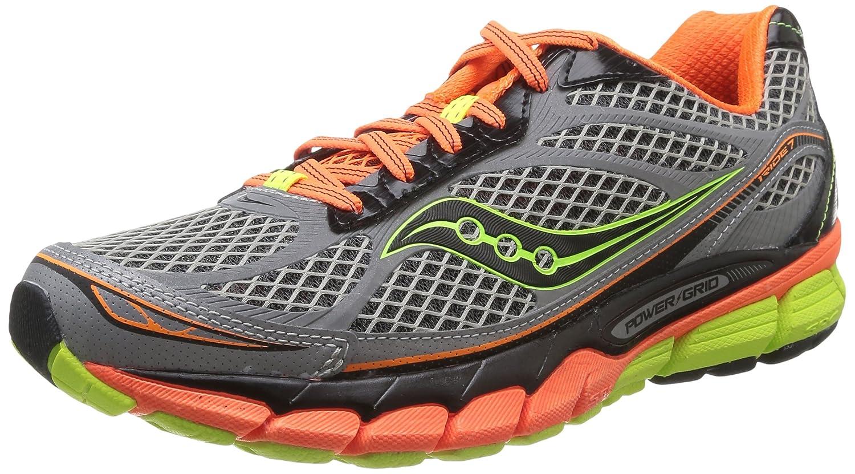 Amazon.com   Saucony Mens Ride 7 Vizi Glo Running Shoe, Silver/Vizi Orange/Citron, 8 M US   Road Running