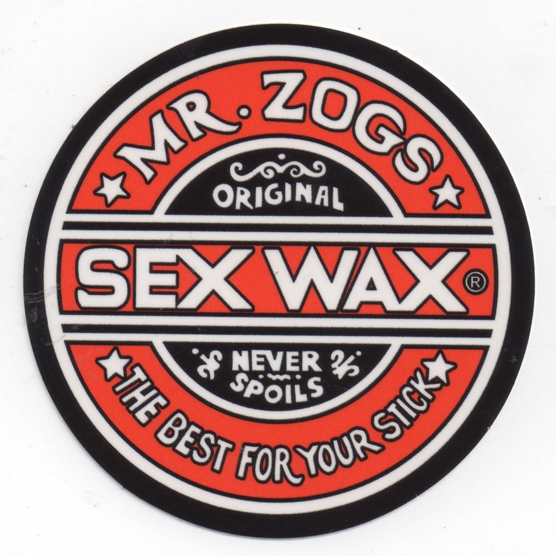 "Mr Zoggs SEX WAX STICKER 7/"" CIRCULAR METALLIC RED"