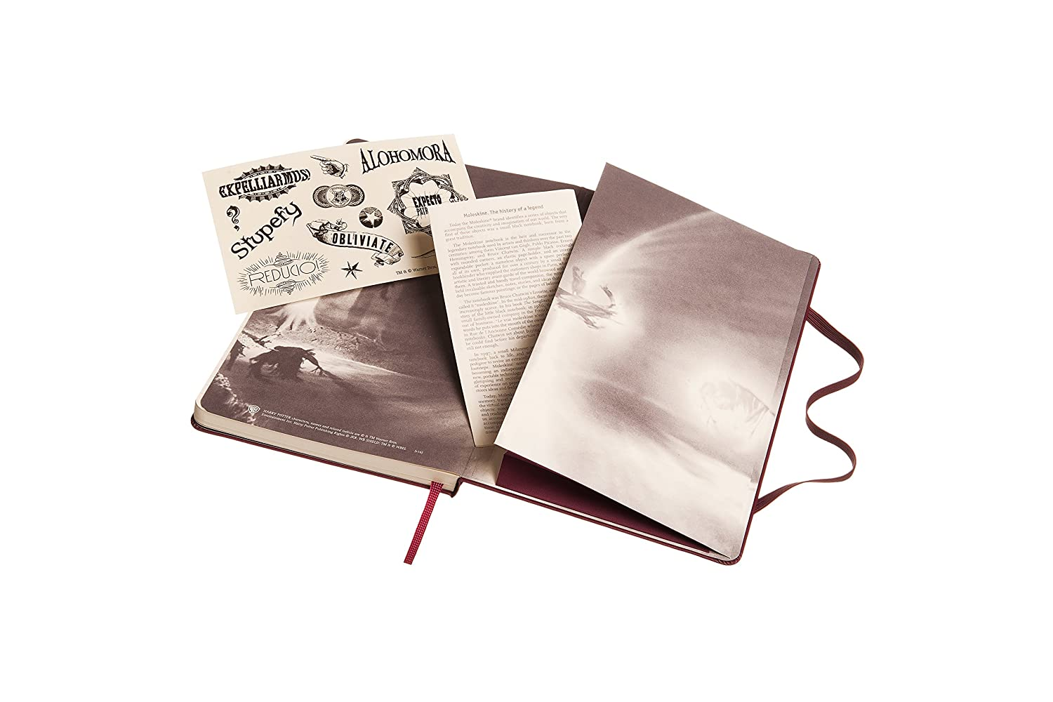 Moleskine Harry Potter Limited Edition Notebook, Large, Ruled, Red, Hard Cover (5 x 8.25)