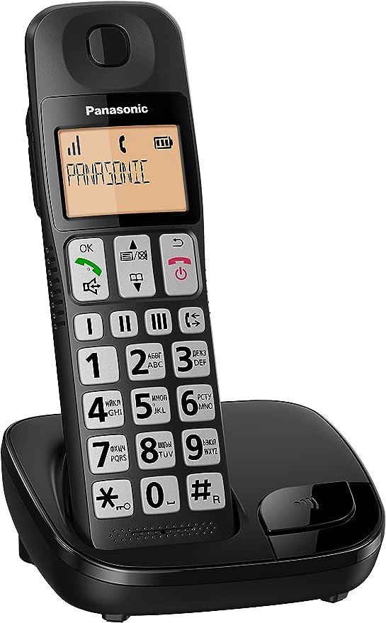 Panasonic KX-TGE310SPB- Teléfono Fijo Inalámbrico (LCD Grande, Teclas Grandes, Agenda de 50 Números, Bloqueo de Llamadas, Modo ECO, Compatible con Audífonos): Amazon.es: Electrónica
