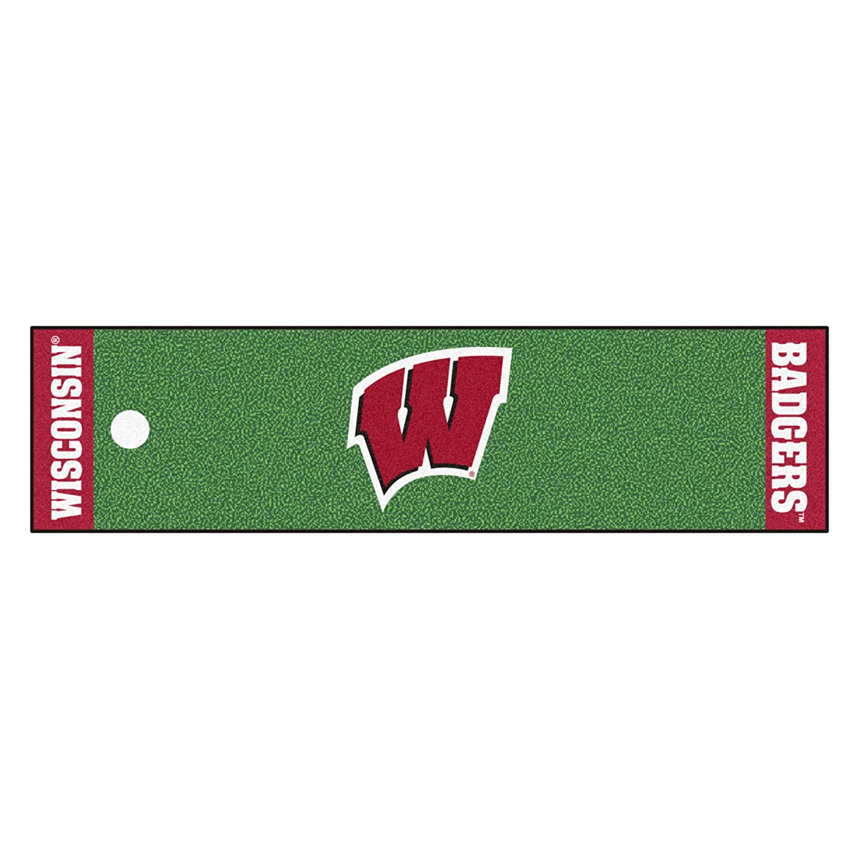 FANMATS NCAA University of Wisconsin Badgers Nylon Face Putting Green Mat