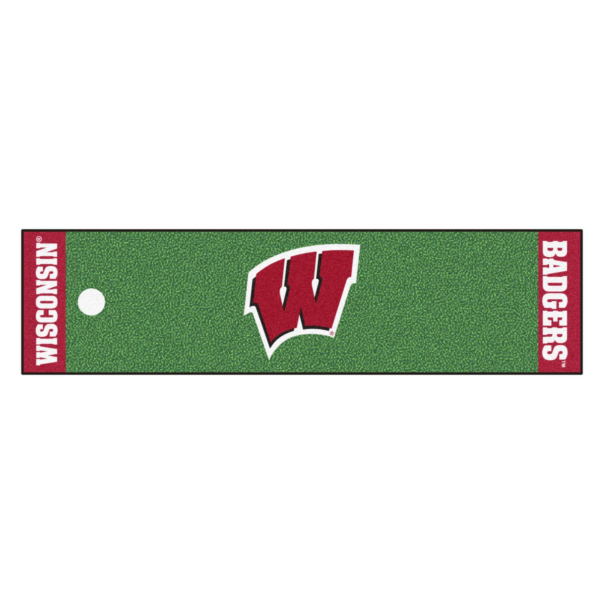 NCAA Wisconsin Badgers Golf Practice Putting Green Rug Runner 18'' x 72''