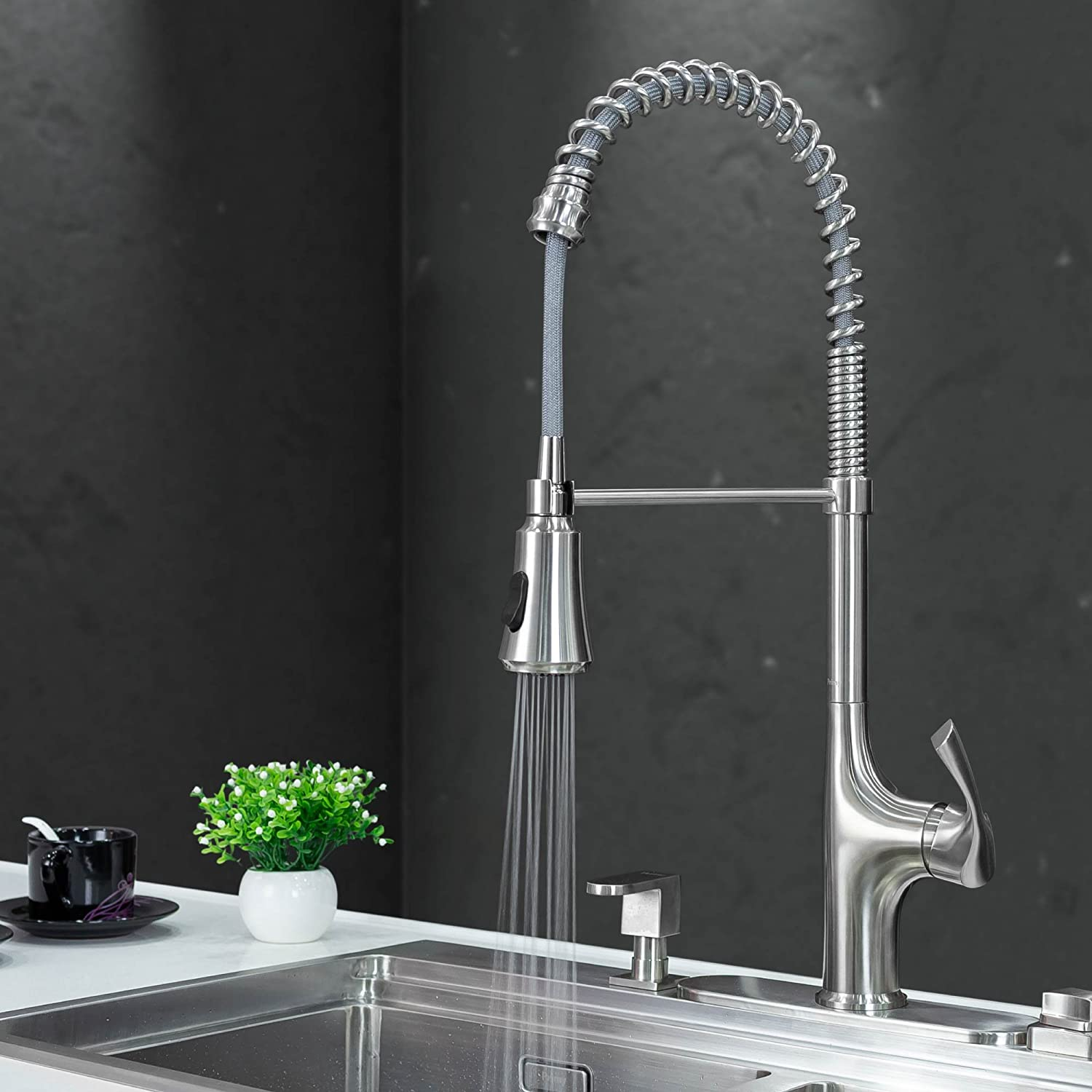 Primy Commercial Kitchen Faucet Lead-Free Single Level Stainless ...