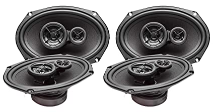 4 Speakers Skar Audio 6x9 300W 3 Way Coaxial and 6.5 200W Car Audio Speakers System