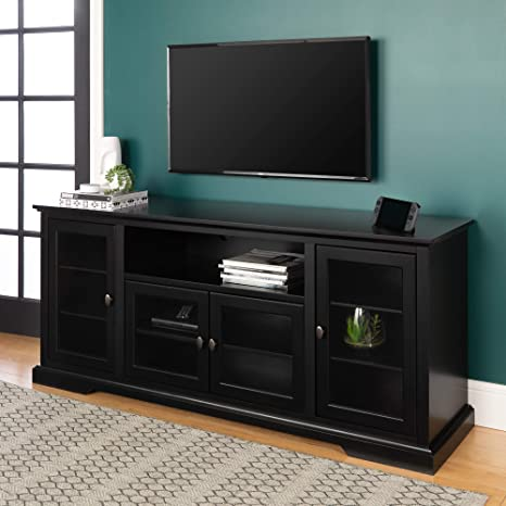 Gave Tv Meubel.We Furniture 70 Highboy Style Wood Tv Stand Console Black