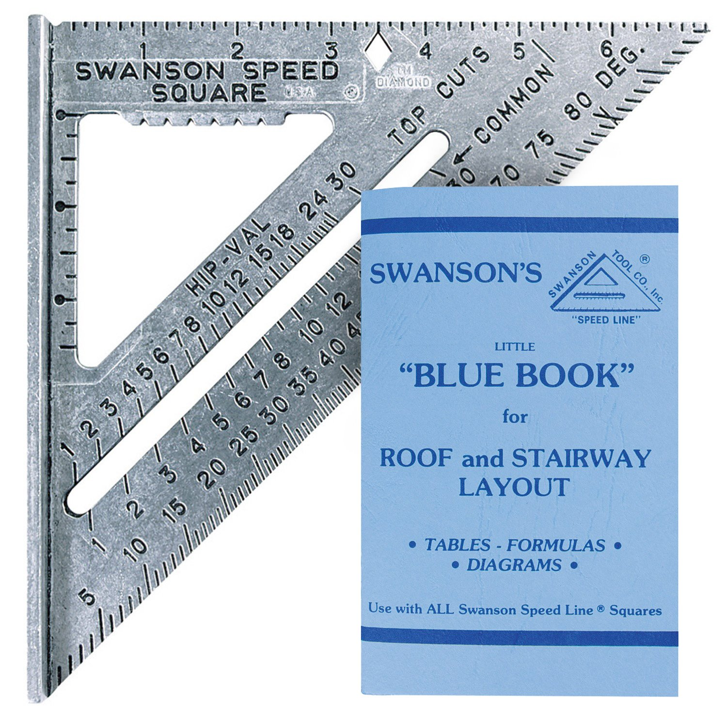 Swanson Tool S0101 7-inch Speed Square Layout with Blue Book ...
