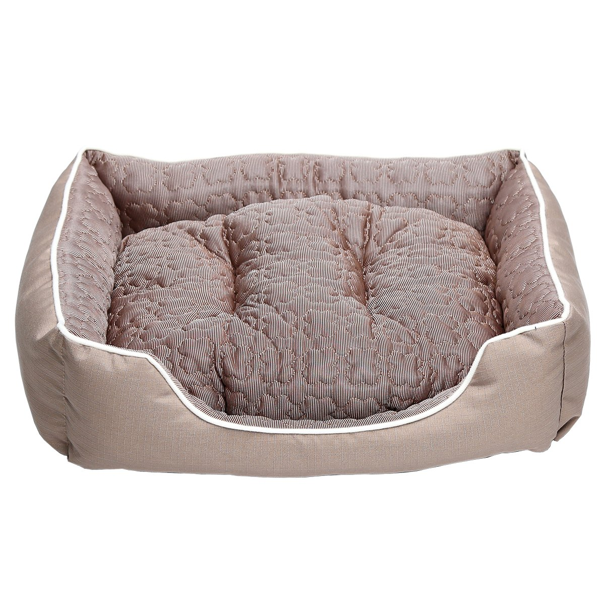 18352a8aef52 JEMA Rectangle Dog Bed - Lounger for Dogs & Cats with Self Warming Cozy  Reversible Removable Inner Plush Cushion, Non Slip Waterproof Bottom,  Square Medium ...