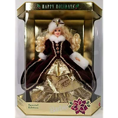 Mattel Happy Holidays Barbie Christmas 1996: Toys & Games