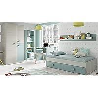 Miroytengo Pack Muebles Dormitorio Juvenil Completo Color Verde