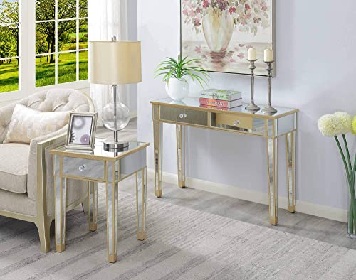 Convenience Concepts Gold Coast Mirrored End Table