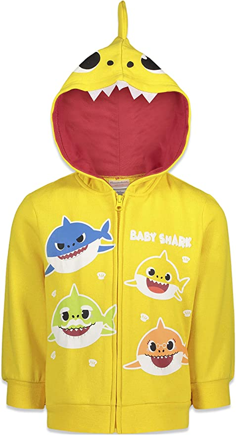 Pinkfong Baby Shark Fleece Pullover Hoodie with Singing Chip