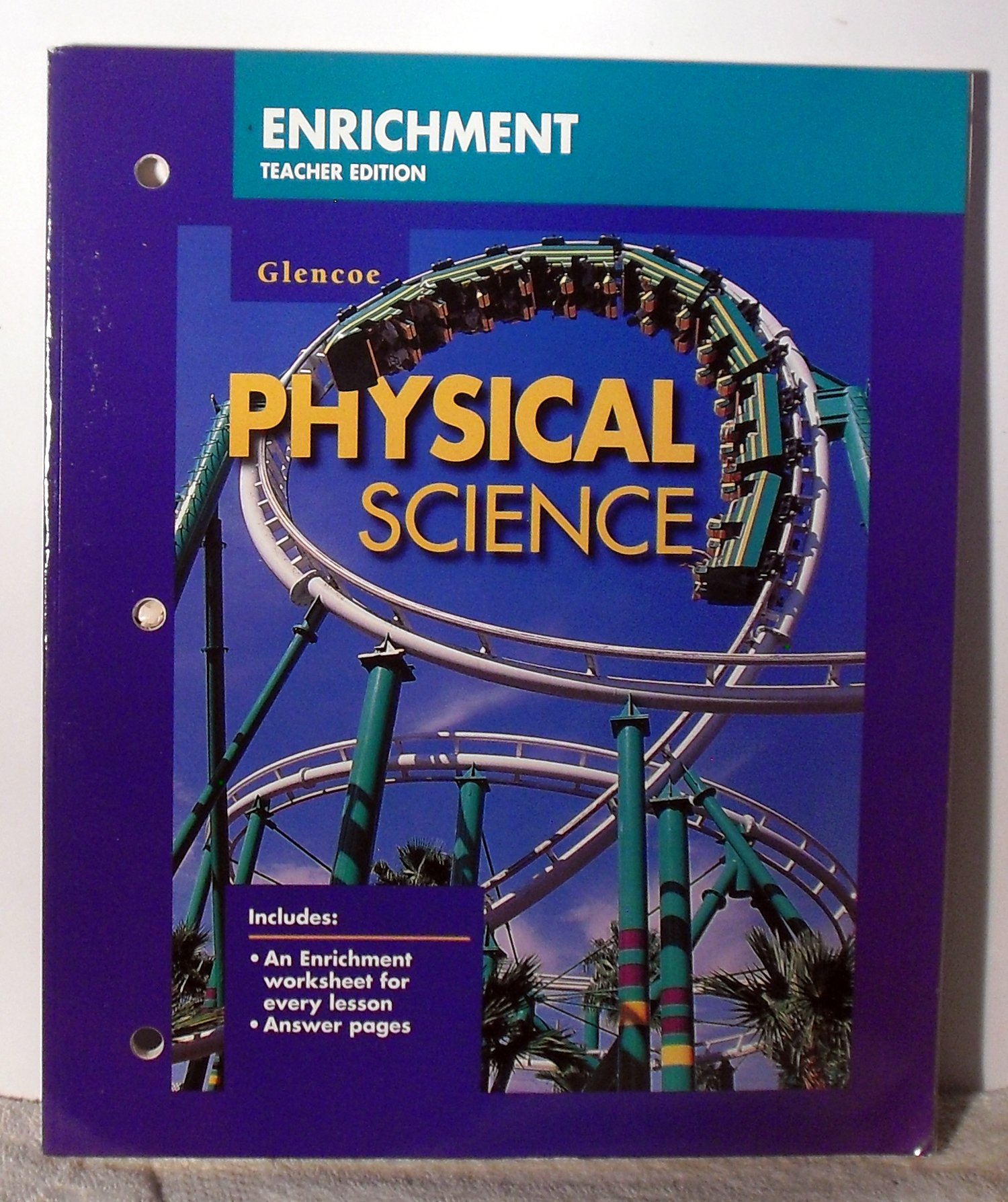 Worksheets Glencoe Life Science Worksheets glencoe physical science enrichment teacher edition glencoemcgraw hill 9780028278919 amazon com books
