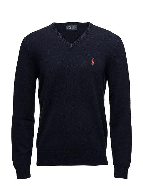 info for 93084 165f1 Ralph Lauren maglione da uomo 100% lana blu navy (XL)