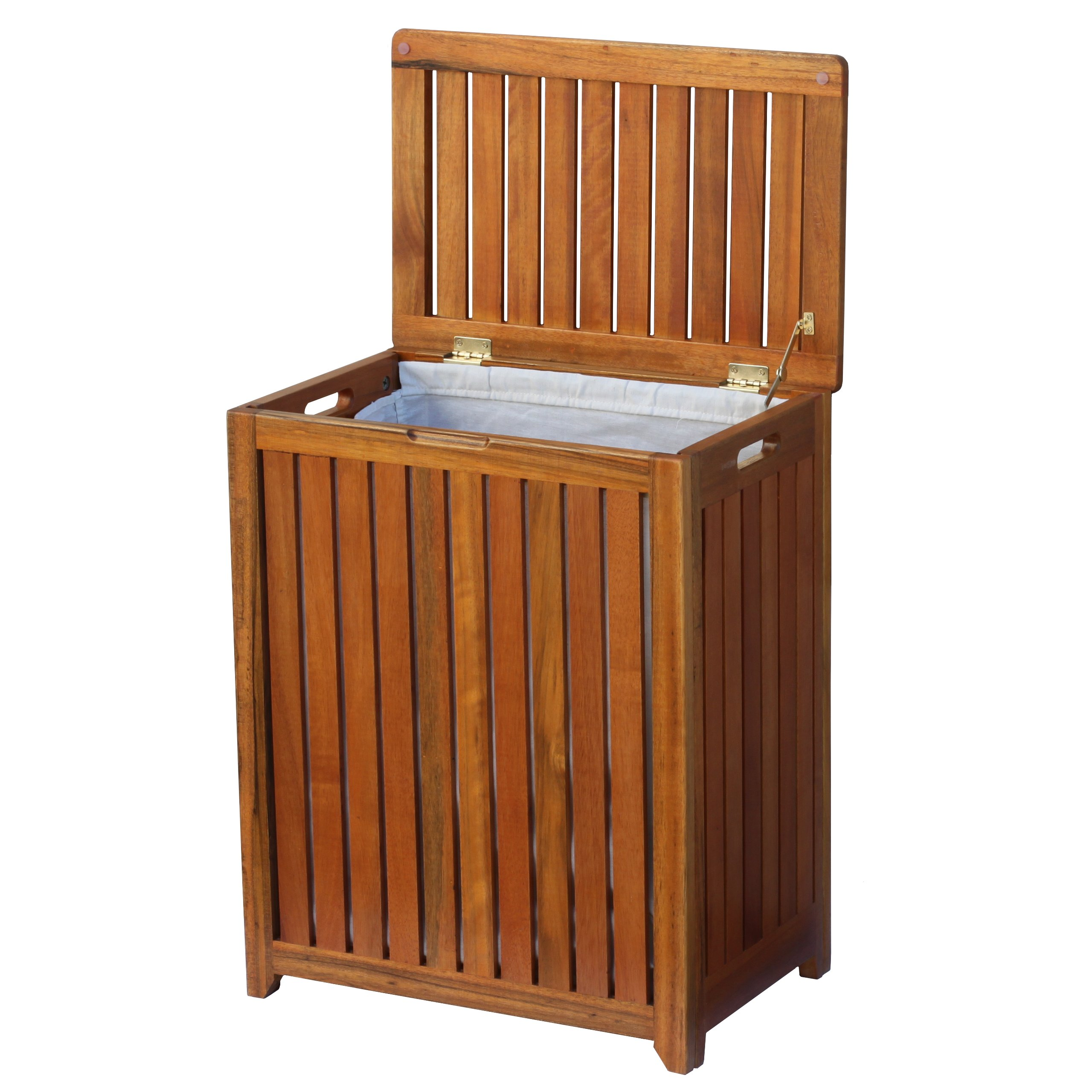 Oceanstar Solid Wood Spa Laundry Hamper