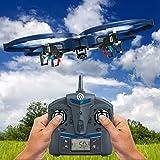 NINETEC Spaceship9 RC Drohne Video Foto und HD Kamera Akku-Warner 360° Flip Funktion 2.4 GHz 4-Kanal 6-AXIS Stabilization System