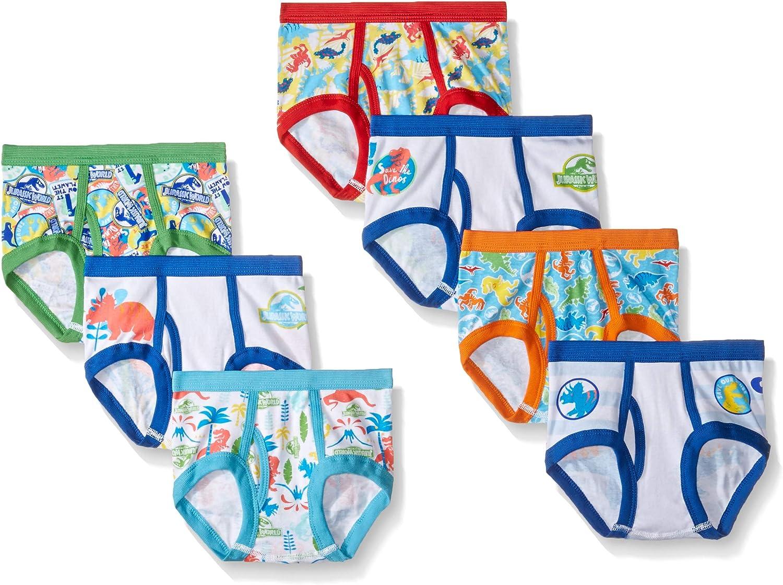 Universal Boys' Toddler Jurassic World 7-Pack Underwear Briefs