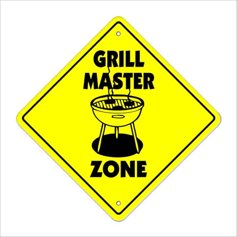 Amazon.com: Grill Master Zone Sign Xing regalo novedad ...