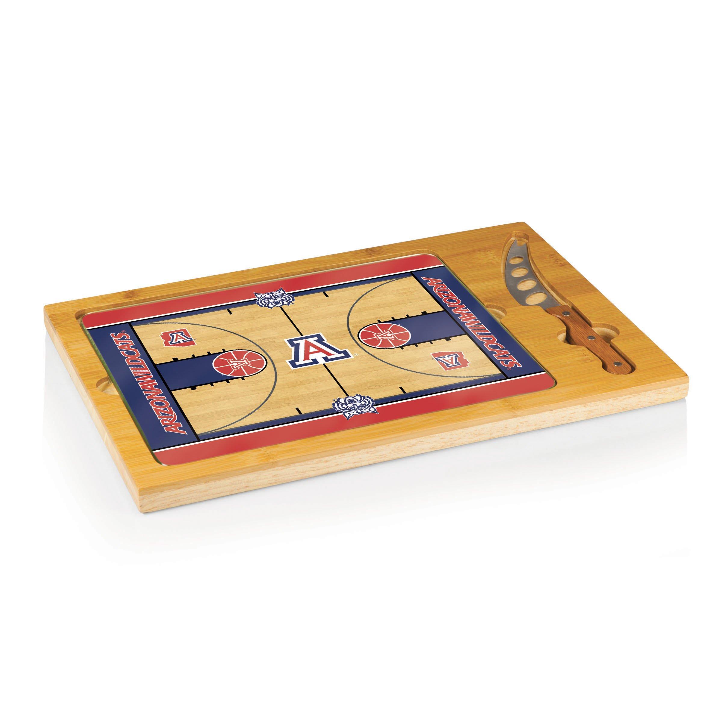 PICNIC TIME NCAA Arizona Wildcats Basketball Court Icon Cheese Set (3-Piece)