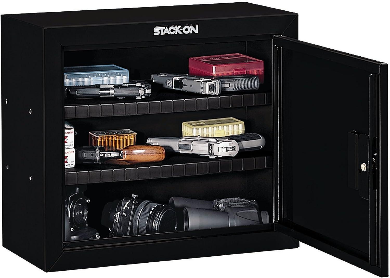Stack-On GCB-900 Steel Pistol/Ammo Cabinet, Black