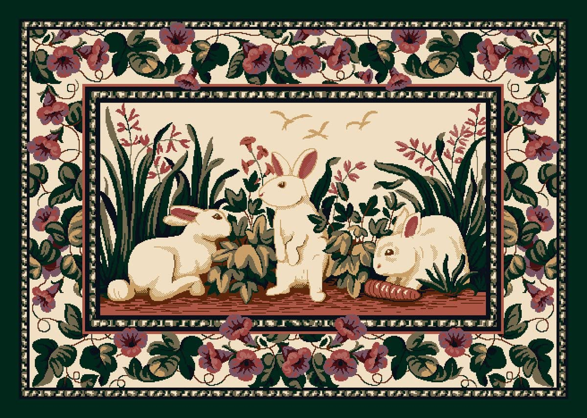 Milliken Spring Seasonal Cotton Tales Rabbit Novelty Rug Rug Size 3 10 x 5 4