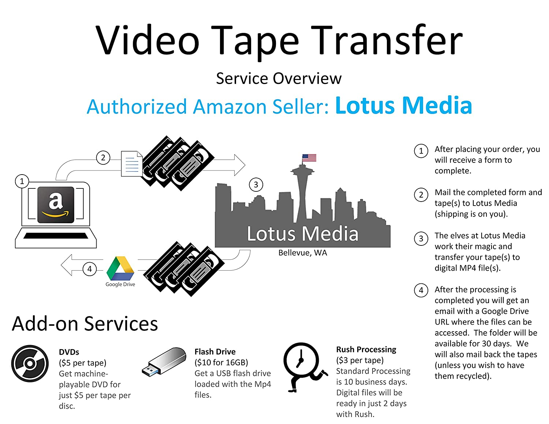 Video Tape Transfer Service (VHS, Hi8, MiniDV, Digital8, VHS-C) to Digital  MP4
