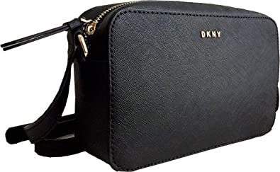 9067c3b987 DKNY Small Saffiano Leather Shoulder Cross Body Camera Bag in Black ...