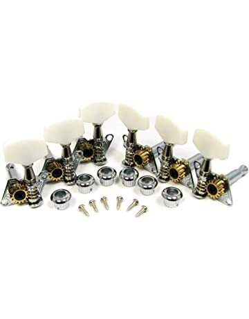 Chrome Open-gear Guitar Tuners/Machine Heads - 6-piece 3 Left /