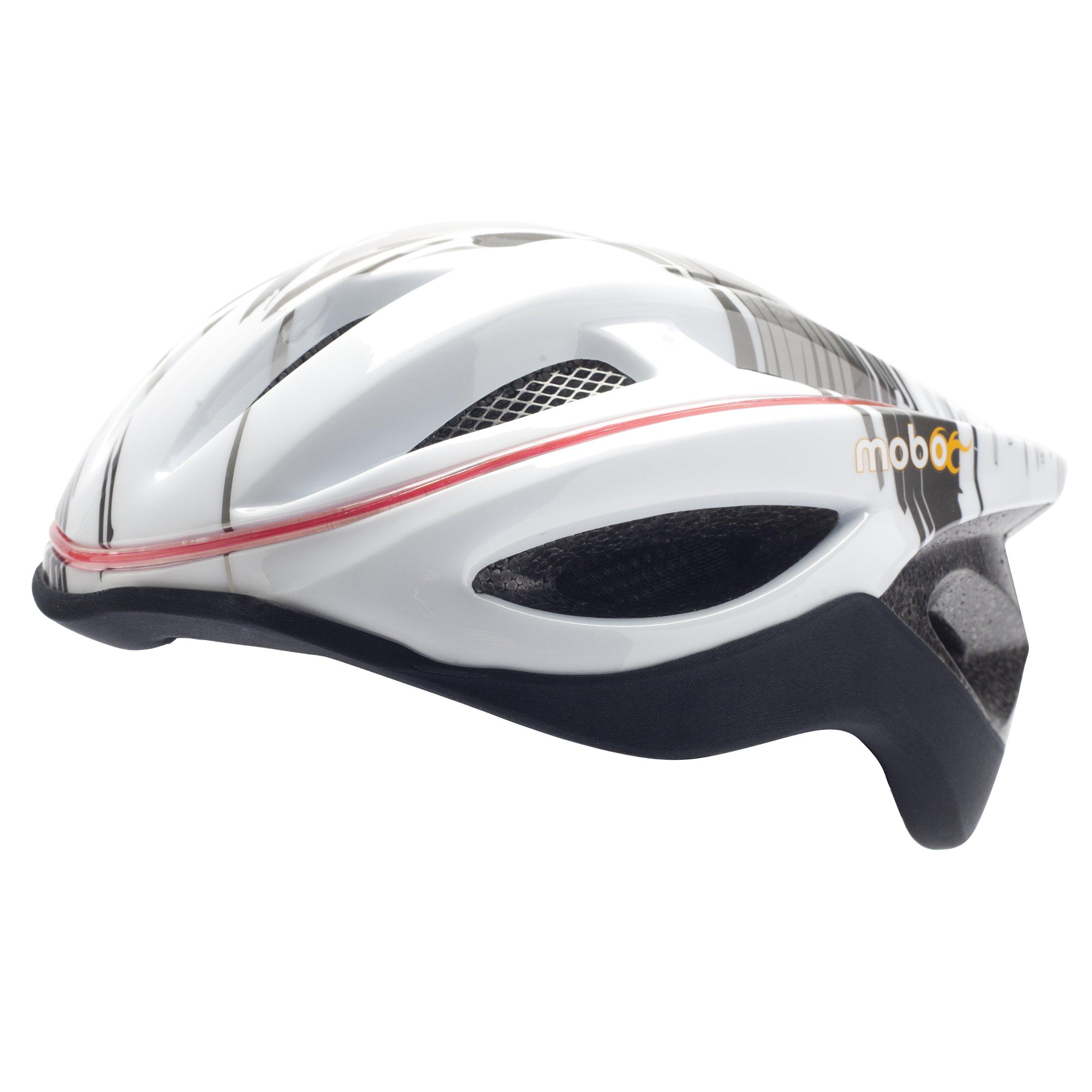 Mobo Cruiser 360 LED Helmet, Grey/White, Large/X-Large