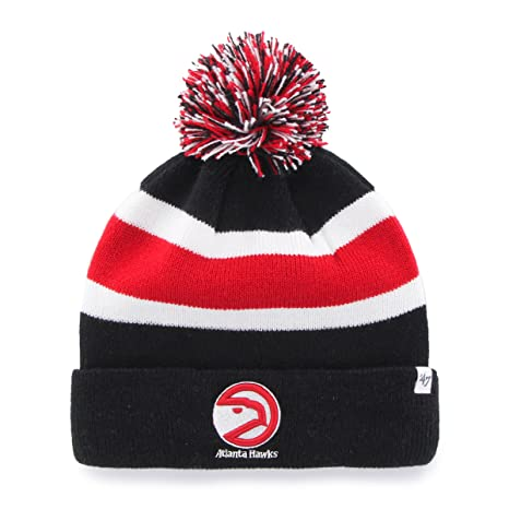 d38455c5f601f Atlanta Hawks Black Cuff  quot Breakaway quot  Beanie Hat with Pom - NBA  Cuffed Winter