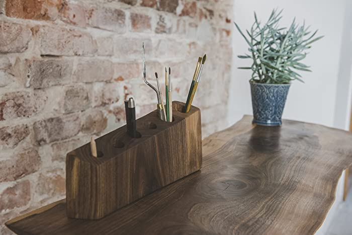 Genial Rustic Wood Decor: Desk Organizer. Office Accessories   Wood Pencil Holder.  Perfect For