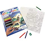 Royal & Langnickel Colour Pencil by Numbers Wolves by Stream Designed Painting Set