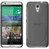 PhoneNatic Custodia HTC Desire 620 Cover grigio S-Style Desire 620 in silicone + pellicola protettiva