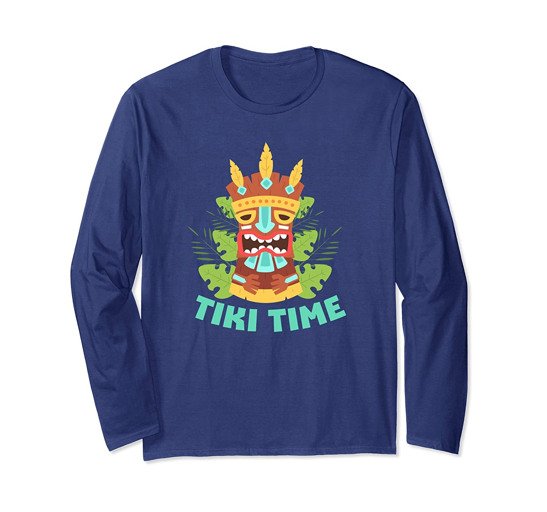 Tiki Time Polynesian Hawaiian Island Tiki Totem T-Shirt-fa