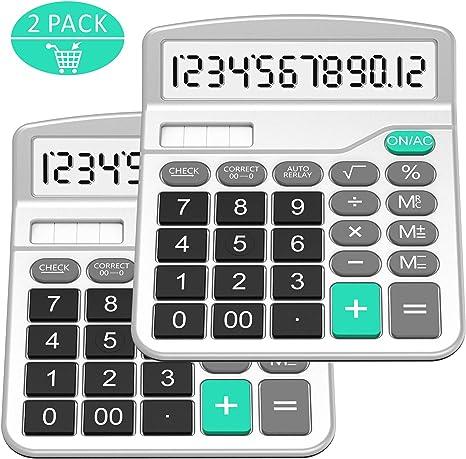 Big Display Taschenrechner Solar Tischrechner Rechenmaschine Rechner Bürorechner