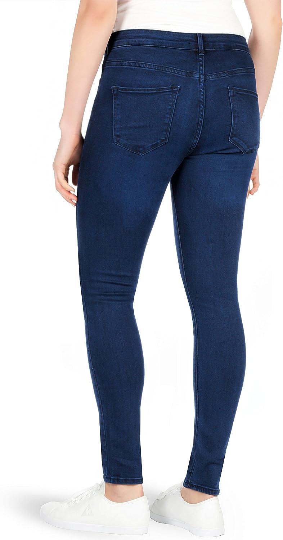Leggings New Ladies F/&F Skinny Jeans Denim Mid Waisted Pants  Blue Stretch