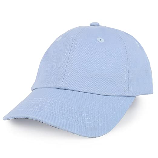 9b1304d4bde Trendy Apparel Shop Youth Small Fit Bio Washed Unstructured Cotton Baseball  Cap - Baby Blue
